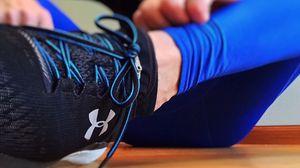Превью обои кроссовки, фитнес, стиль, шнурки