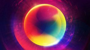 Превью обои круг, разноцветный, форма
