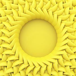 Превью обои круг, рельеф, 3d, желтый