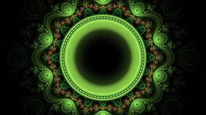 Превью обои круг, узоры, зеленый