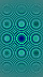 Превью обои круги, фигуры, оптическая иллюзия, абстракция, синий