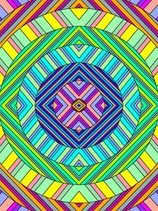 Превью обои круги, полосы, разноцветный, абстракция