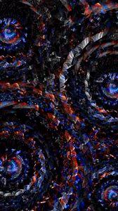 Превью обои круги, вращение, красный, синий, закрученный, спираль, формы