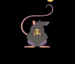 Превью обои крыса, монеты, деньги, вектор
