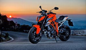 Превью обои ktm 1290 super duke r, мотоцикл, спортивный