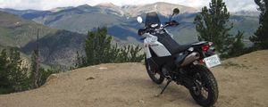 Превью обои ktm, мотоцикл, байк, мото, белый, обрыв