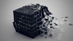 Превью обои куб, взрыв, составляющие
