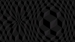 Превью обои кубы, объем, черный, текстура, структура