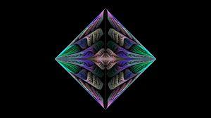 Превью обои квадрат, фон, линии, темный
