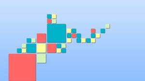 Превью обои квадрат, минимализм, разноцветные