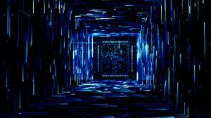Превью обои квадрат, полосы, линии, свечение, темный