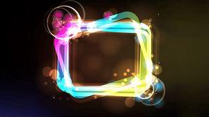 Превью обои квадрат, прямоугольник, свечение, разноцветный, краска