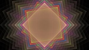 Превью обои квадрат, узор, дым, фон, вращение, иллюзия