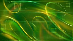 Превью обои квадрат, зеленый, линии, волнистый, клетки