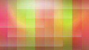 Превью обои квадрат, желтый, зеленый, красный