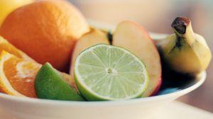 Превью обои лайм, фрукты, нарезка