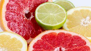 Превью обои лайм, грейпфрут, цитрус, фрукт