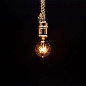 Превью обои ламочка, освещение, веревка, электричество, лампа эдисона