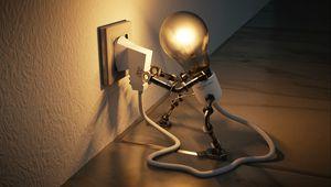 Превью обои лампа, розетка, идея, электричество