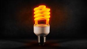 Превью обои лампа, спираль, свет, энергосбережение