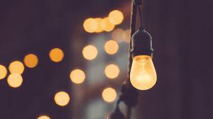 Превью обои лампочка, электричество, блики, размытость
