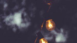 Превью обои лампы, электричество, темный, освещение