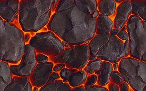 Превью обои лава, текстура, камни, вулканический