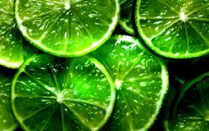 Превью обои лайм, дольки, ломтики, зеленые, фон