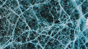 Превью обои лед, трещины, поверхность, узоры