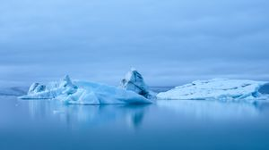 Превью обои ледник, лед, айсберг, снег, вода