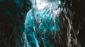 Превью обои ледник, лед, пещера, структура