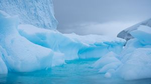 Превью обои ледник, лед, вода, антарктика, снег