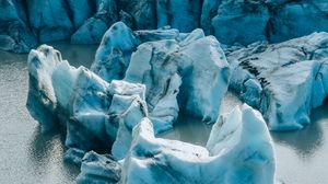 Превью обои ледник, лед, замерзший, вода, природа