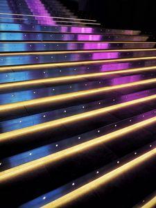 Превью обои лестница, ступеньки, неон, подсветка, свет