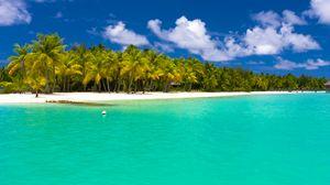 Превью обои лето, мальдивы, тропики, пляж, пальмы