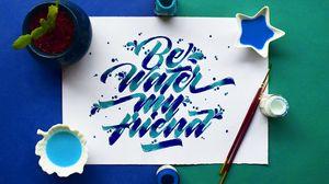 Превью обои леттеринг, слова, текст, надпись, фраза, краска