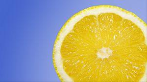 Превью обои лимон, цитрус, срез, спелый