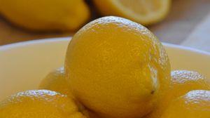 Превью обои лимоны, фрукты, цитрус, миска, желтый