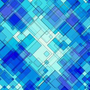 Превью обои линии, формы, полосы, синий