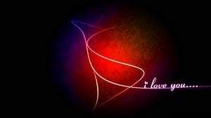 Превью обои линии, любовь, признание, фон