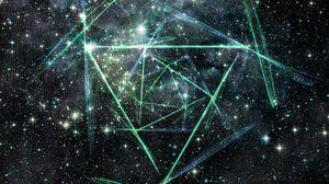 Превью обои линии, свет, небо, звезды