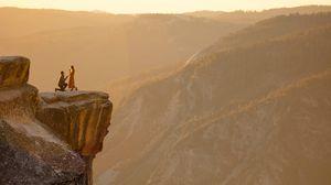 Превью обои любовь, романтика, скалы