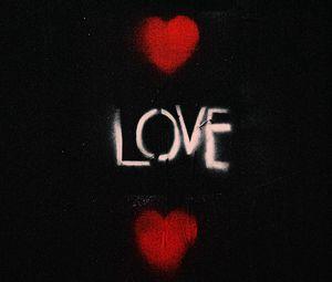 Превью обои любовь, сердечки, слова, граффити