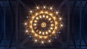 Превью обои люстра, лампа, освещение, свет, вид снизу