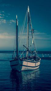 Превью обои лодка, гавань, море