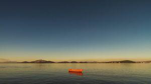 Превью обои лодка, залив, горизонт, гуанабаринский залив, рио-де-жанейро, бразилия