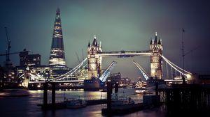 Превью обои лондон, англия, великобритания, тауэрский мост, темза
