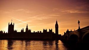 Превью обои london, big ben, лондон, биг бен, ночь, пейзаж