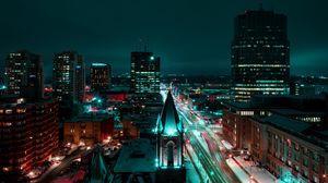 Превью обои лондон, канада, ночной город, здания