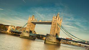 Превью обои лондон, тауэрский мост, река, темза